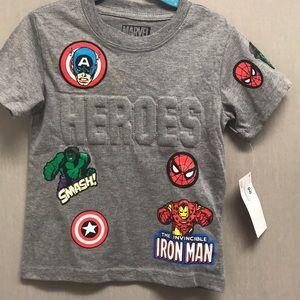 NWT Marvel Superheroes. Spider-Man, Ironman.